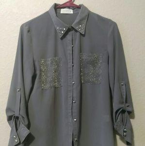 Love Tree, women's, button up shirt